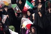 راهپیمایی دشمنشکن ۲۲ بهمن در رابر زادگاه علمدار جبهه مقاومت