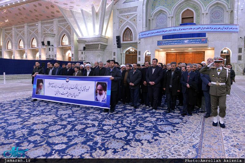 تجدید میثاق رئیس و کارکنان سازمان فرهنگ و ارتباطات اسلامی با آرمان های بنیانگذار جمهوری اسلامی