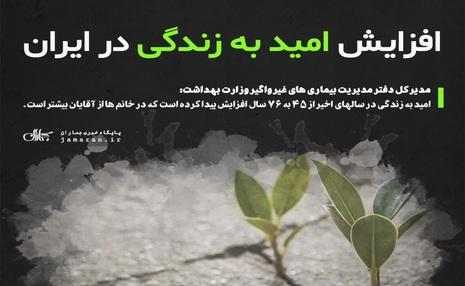 افزایش امید به زندگی در ایران