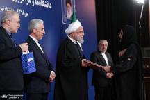 حضور روحانی در دانشگاه تهران