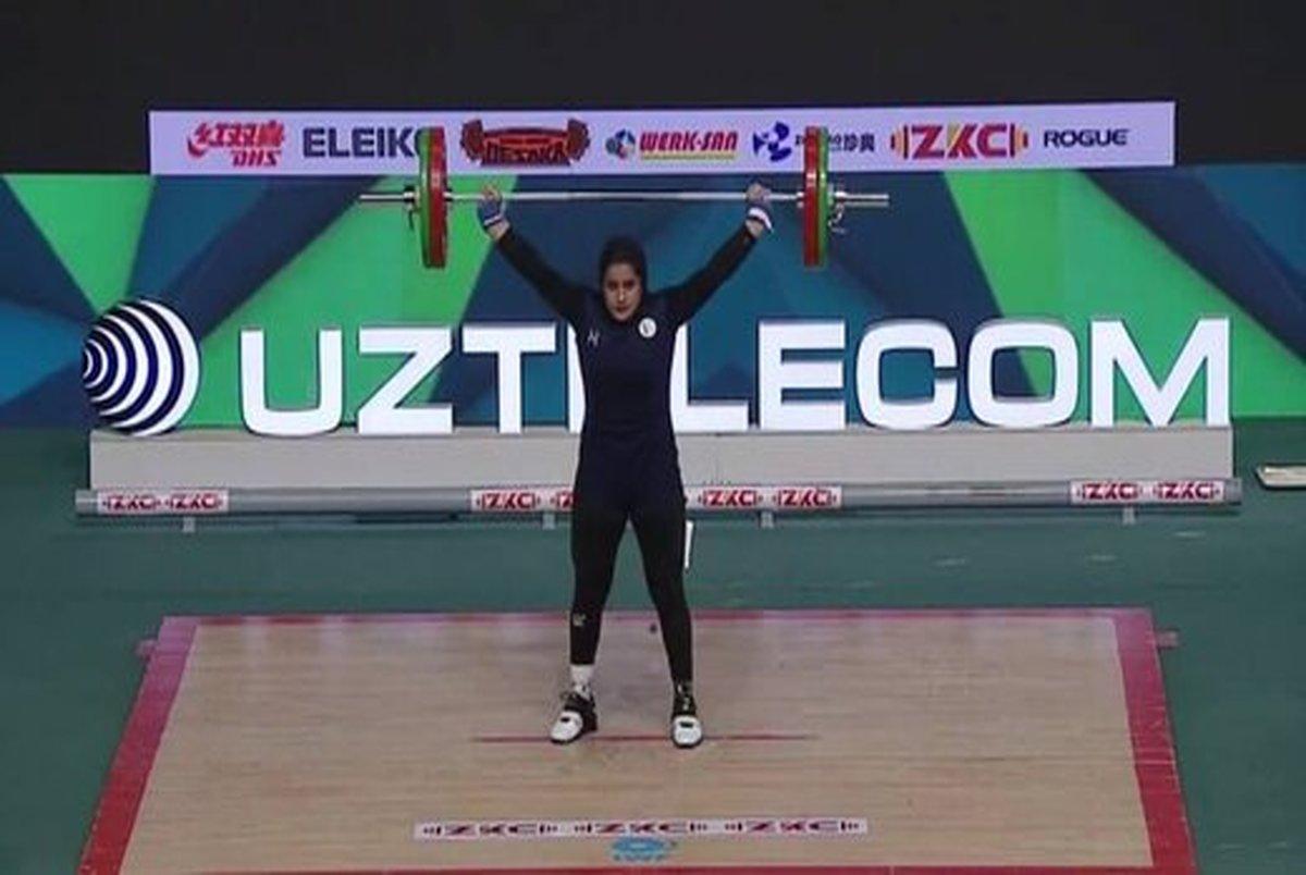 نخستین مدال جهانی تاریخ وزنه برداری بانوان ایران به یکتا جمالی رسید +عکس و ویدیو