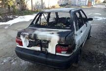 تست اشتباه نشت گاز در بجنورد، خودرو را به آتش کشید