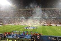 تراکتوریها با پرچم ژاپن در ورزشگاه آزادی! + عکس