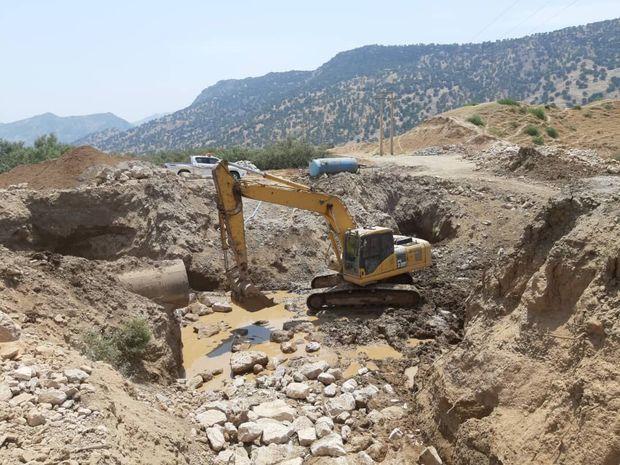 عملیات تکمیل پل ارتباطی نیمدور در باشت آغاز شد