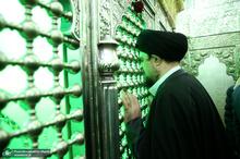 زیارت سید حسن خمینی از مرقد مطهر صالح ابن موسی کاظم(ع)