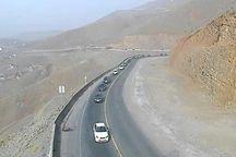 ترافیک نیمه سنگین در جاده کرج – چالوس