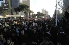 ویدئویی از حضور میلیون ها تهرانی در مراسم تشییع سردار شهید حاج قاسم سلیمانی