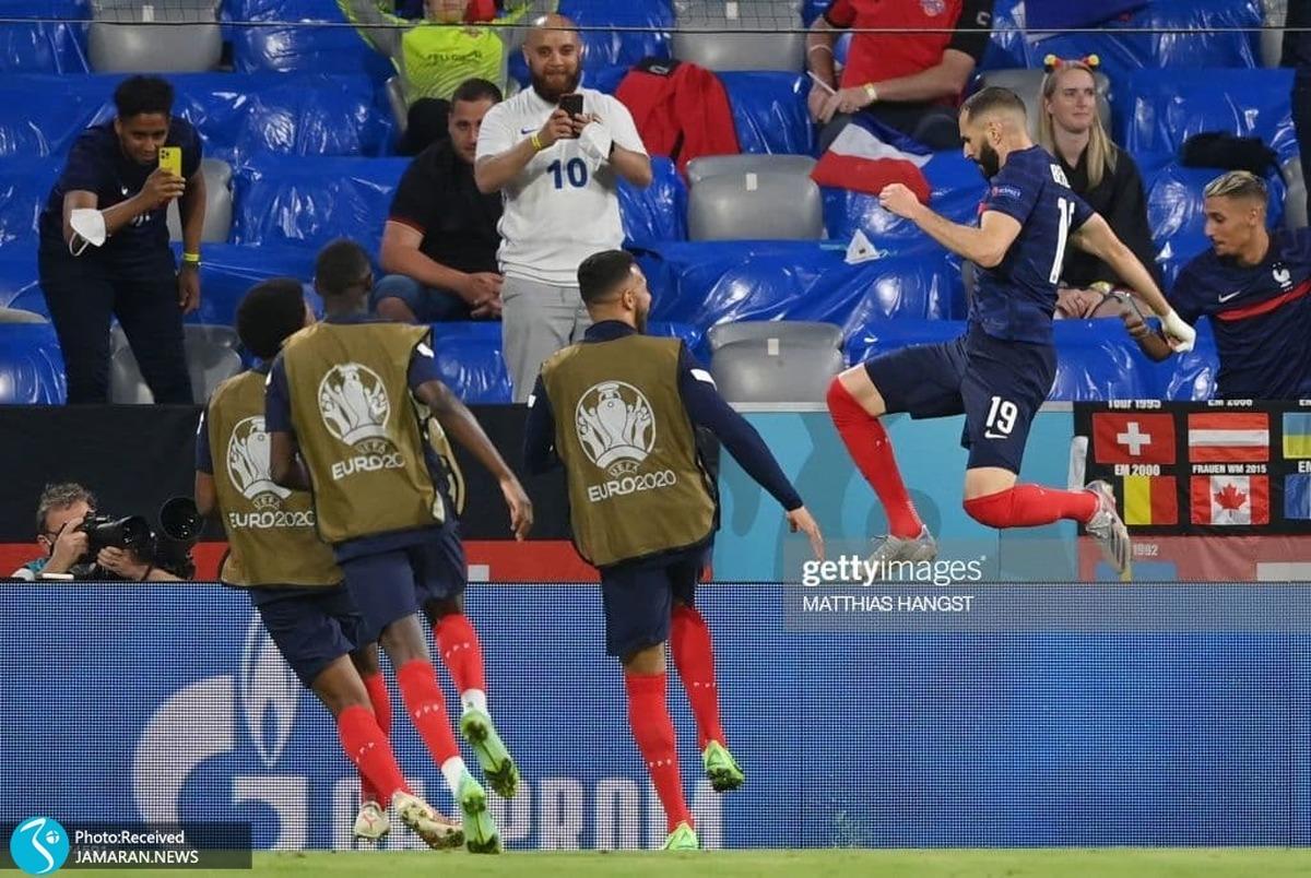 دوباره حادثه در یورو 2020؛ جیمی جامپ دیدار فرانسه و آلمان چند مجروح بر جای گذاشت!