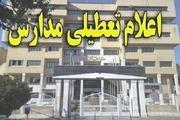 همه مدارس استان بوشهر تا پایان هفته جاری تعطیل شد