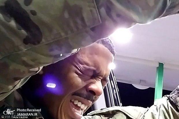 خشونت با رنگین پوستان آمریکایی حتی با یک ستوان ارتش+ تصاویر