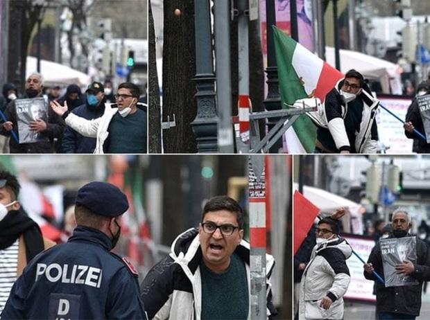 درگیری ضدانقلاب های مخالف مذاکرات وین با پلیس + عکس