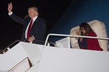 قهر رئیس جمهور آمریکا و همسرش علنی تر شد+ تصاویر