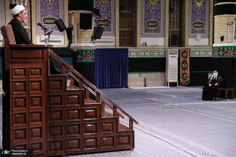 مراسم عزاداری شب تاسوعای حسینی(ع) در حسینیه امام خمینی(س)