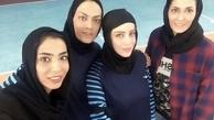 خانم بازیگر در کنار خواهران منصوریان + عکس