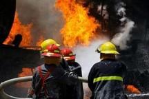 شش نفر از حریق یک مجتمع مسکونی در مشهد نجات یافتند