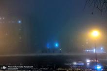 مه غلیظ موجب کاهش دید دربرخی نقاط تهران شد + تصاویر