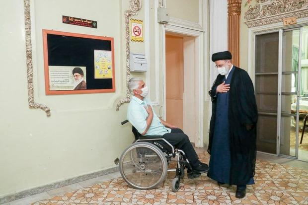 حضور رییسی در آسایشگاه جانبازان امام خمینی (ره) + تصاویر