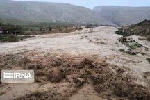 طغیان خشکه رودها بر اثر بارش بی وقفه باران در ایلام
