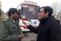 اعزام کاروان یکصد نفری از دانش آموزان بستان آباد به مناطق عملیاتی