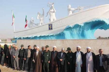 رونمایی از تندیس شهدای خلیج فارس در برازجان