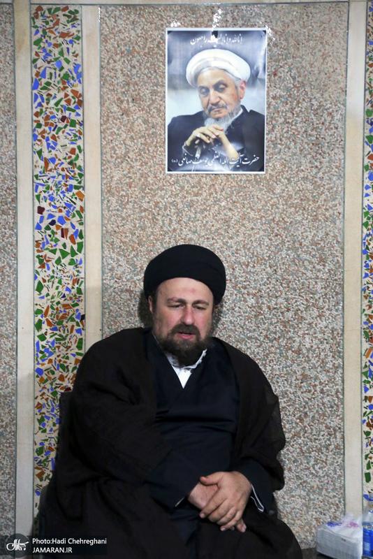 حضور سید حسن خمینی در بیت آیت الله العظمی صانعی(ره)