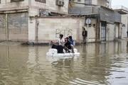 زندگی اهوازیها بازهم در محاصره سیل و باران