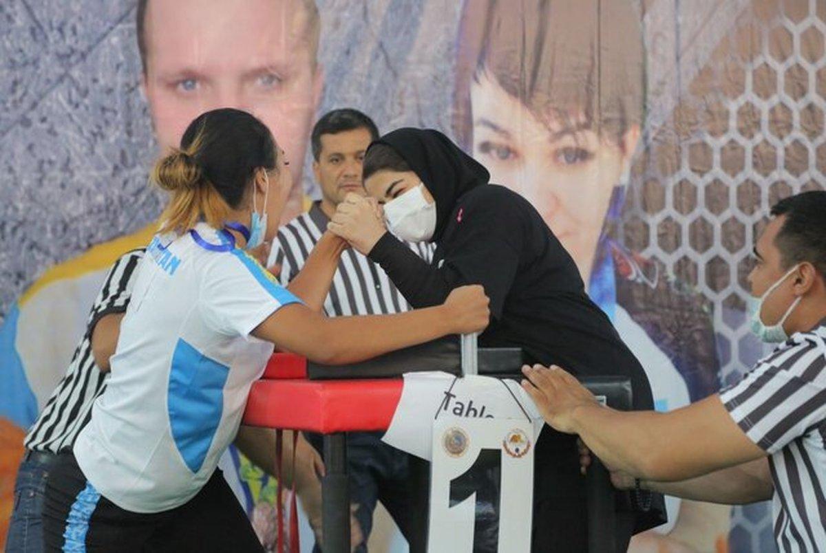 مدال نقره بانوی خوزستانی در رقابتهای مچ اندازی قهرمانی آسیا
