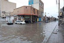 بارندگی در آبادان و خرمشهر موجب آبگرفتگی معابر شد