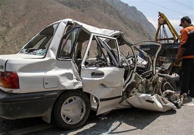 برخورد پراید با خودروی پیکاب یک کشته برجا گذاشت