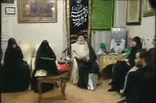 حضور حجت الاسلام شهرستانی نماینده آیت الله سیستانی در منزل سردار شهید حاج قاسم سلیمانی