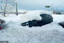 بارش سنگین برف در آستانه اشرفیه