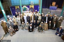 بازدید جمعی از امامان جمعه، روحانیون، علما، فضلا و مدرسین حوزه های علمیه اهل تسنن از جماران