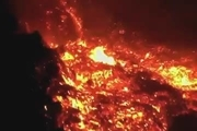 ادامه فعالیت آتشفشان لاپالما