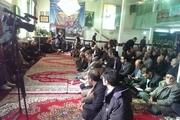 مراسم چهلمین روز شهادت هادی طارمی همرزم سردار سلیمانی در ابهر برگزار شد