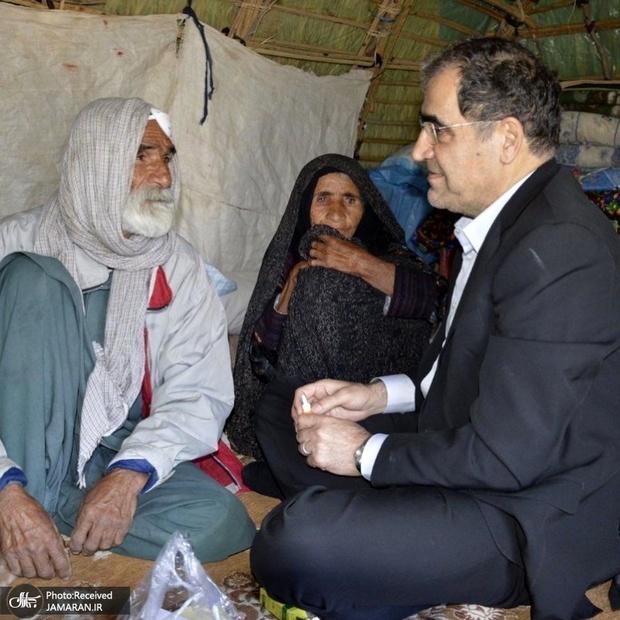 سفر وزیر پیشین بهداشت به منطقه بسیار محروم جازموریان در جنوب کرمان + تصاویر