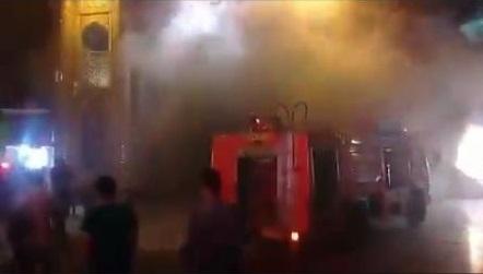 آتش سوزی در حرم حضرت معصومه(س) + فیلم