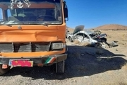تصادف کامیون و مینی بوس در حسن آباد ۵ مصدوم بر جا گذاشت