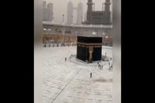 رعد و برق و باران شدید در مسجدالحرام