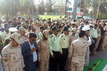 پیکر پاک شهید نیروی انتظامی در سراوان تشییع شد