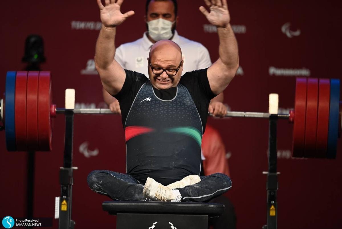 وزنه برداری پارالمپیک 2020 | قهرمان جهان نقره ای شد؛ تلاش صلحی پور جواب داد+عکس