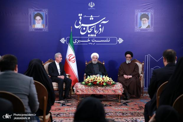 رییس جمهور: مردم ایران در شادی ها و سختی ها کنار هم هستند