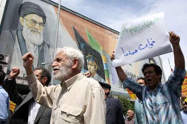 مردم تهران بر بدعهدی مدعیان عهدشکن خروشیدند