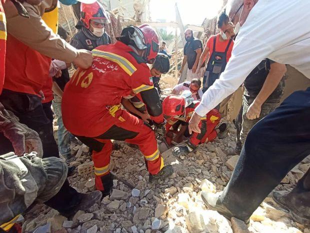 انفجار گاز در بازار عامری اهواز + فیلم