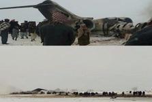 طالبان یک هواپیمای آمریکایی را با 110 سرنشین در افغانستان سرنگون کرد/ ارتش آمریکا سقوط هواپیمای «E-۱۱» در افغانستان را تأیید کرد + عکس و فیلم