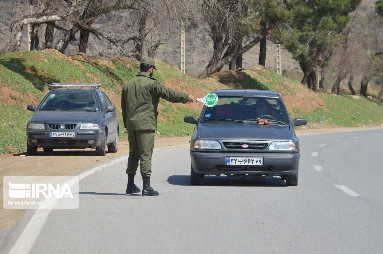 استقرار پلیس خراسان شمالی در ۱۶ نقطه برای طرح فاصله گذاری اجتماعی