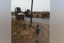 مقابله ساکنان دو روستا در سوریه با نظامیان آمریکایی