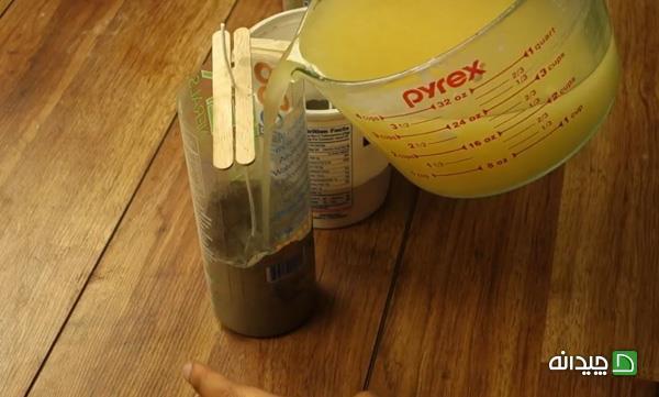 مراحل ساخت شمع بتنی در خانه