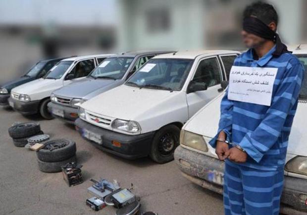 باند سارقان خودرو در قزوین متلاشی شد
