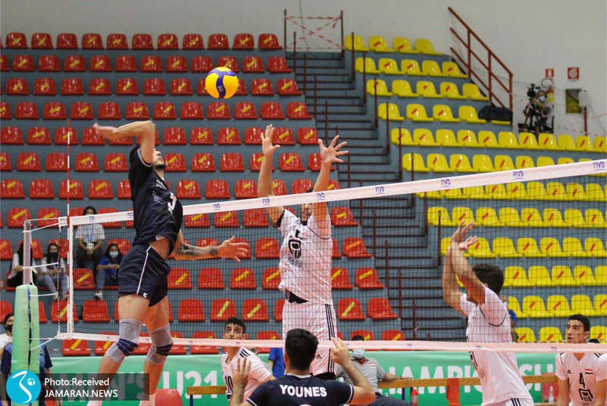 پیروزی قاطع جوانان والیبالیست ایران مقابل مصر+ عکس