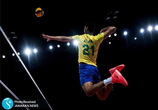 تیم ملی والیبال ایران - لیگ ملت های والیبال 2021- والیبال ایران و برزیل